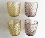 Teelichtglas-Set Wabe