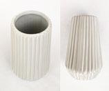Riffle Vase weiss