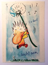 "Postkarte ""Leicht"""