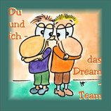 "Postkarte ""Dream-Team"""