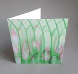 Grußkarte mit Motiv von Glasstrukturen/ inkl. Briefumschlag