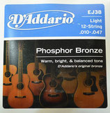 D'Addario EJ38 LIGHT(12弦)