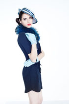 Clamare leather gloves light blue