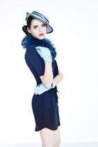Clamare Lederhandschuhe blau