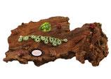 Bracelet Valicia- Peridot, un bijou textile réalisé au Crochet d'Art