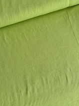 Baumwoll-Jersey uni, gerippt, leicht, lindgrün