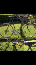 Groene race fiets