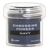 """Poudre à embosser bleue """"Navy"""" 15g"""