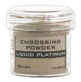 """Poudre à embosser argentée """"Liquid Platinum"""" 17g"""