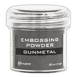 """Poudre à embosser grise """"Gunmetal"""" 15g"""