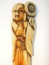 994 Netsuke Katabori 形彫 Kikujido - der Chrysanthemen Junge