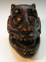 2240 Netsuke Katabori 形彫 Holz Maskennetsuke