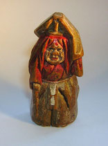 2246 Netsuke Katabori 形彫Holz Shojo mit Schöpfer für Sake