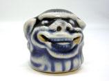 2341A Netsuke Katabori 形彫 Shishi Kopf Hirado Porzellan