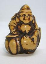 2323 Netsuke Katabori 形彫 aus Bakalith Ebisu mit Meeresbrasse