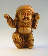 2292 Netsuke Katabori 形彫 aus Bakalith Daikoku mit Hammer