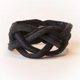 Naval knot armband zwart  small