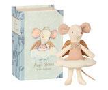 Maileg knuffel muis beschermengel met wolk in boek