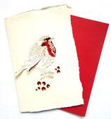 Handgeschepte kaart, roodborstje