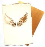 Handgeschepte kaart, vleugels