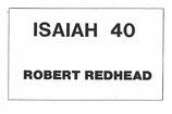 Wettbewerbsstück - ISAIAH 40