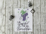 "Postkarte ""I'am grapeful for our friendship"""