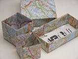 Origamipapier Landkarte 10x10cm 25 Blatt