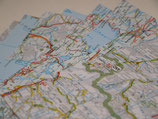 Origamipapier Landkarte
