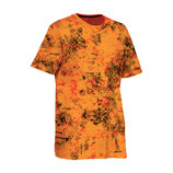 TEE SHIRT MANCHES COURTES HOMME LIGNE VERNEY-CARRON SNAKE - CAMOU ORANGE