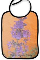 Bavoir violette orange