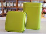"Teedose ""Mini"", green quadrat"