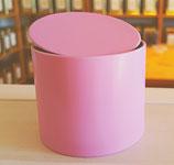 Teedose, rosa, rund,
