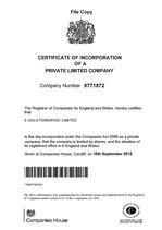 Gründungsunterlagen- certifice copy