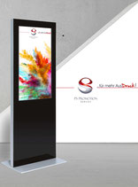 Digitale Infostele im Slim-Design