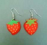 Erdbeer - Ohrringe