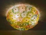 Lampada da soffitto cm 60 composta da  rose in vetro soffiato di Murano