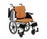 松永製作所 車いす アルミ製車椅子 介助型 前座高430mm NEXT-41B F-1