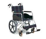 松永製作所 車いす アルミ製スタンダード車椅子 介助型 前座高380mm AR-311 S-2
