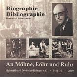 """Heimatblätter """"An Möhne, Röhr und Ruhr"""" Nr. 70 - Biographie/Bibliographie Bernhard Bahnschulte"""