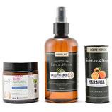 Crema Vegana + Aceite Esencial de Naranja + Hidrolato de Eucalipto Limón