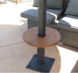 Schirm Tisch, einfache Montage in jeder Höhe