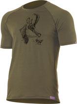 Gams T-Shirt-Dunkel Grün-Design by P. Meile