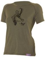 Damen Gams T-Shirt-Dunkel Grün-Design by P. Meile