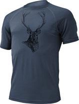 Hirsch T-Shirt-Navy-Design by P. Meile