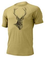 Hirsch T-Shirt-Sand-Design by P. Meile