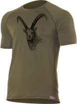 Steinbock T-Shirt-Dunkel Grün-Design by P. Meile