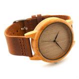 Holz Armbanduhr /  Quarzwerk  /