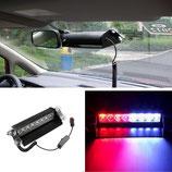 8 LED rot - blaues Polizei Licht