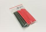 Schrumpfschlauch 10mm  - je 5 Streifen (rot+schwarz)  á 5 cm