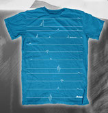 T-Shirt Beat , blue